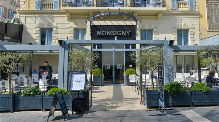 Nice, Hotel Monsigny, Façade hotel