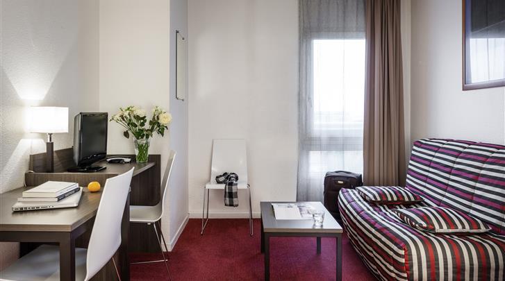 Parijs, Aparthotel Adagio Access Paris La Villette, Studio - Appartement woonkamer
