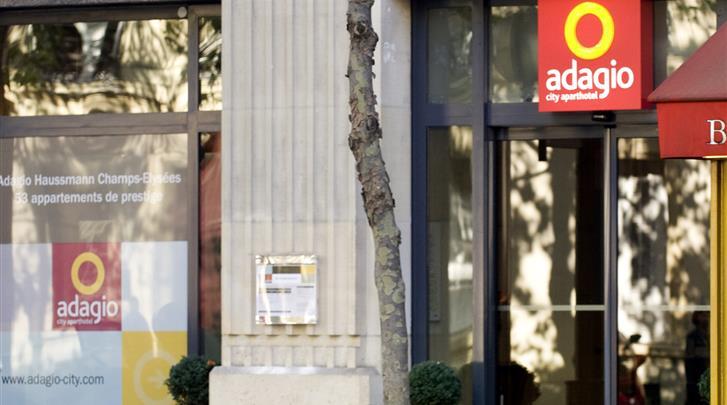 Parijs, Aparthotel Adagio Paris Haussmann, Façade hotel
