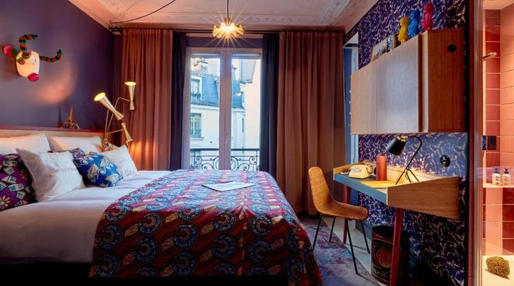 Parijs, Hotel 25hours Paris Terminus Nord, Medium kamer