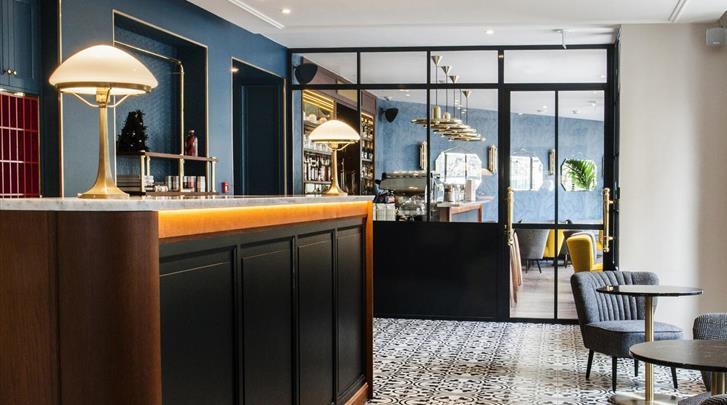 Parijs, Hotel Andre Latin, Receptie
