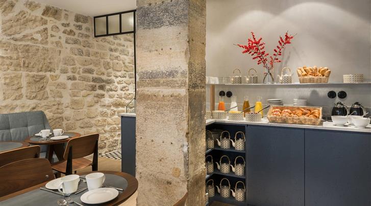 Parijs, Hotel Basss, Ontbijtrestaurant