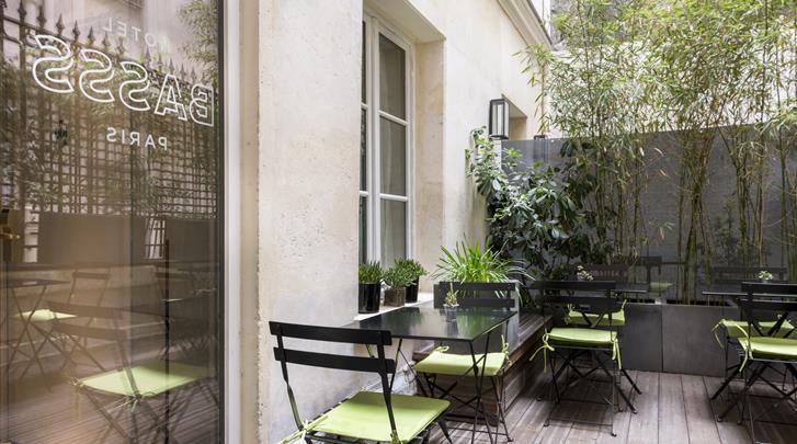 Parijs, Hotel Basss, Terras