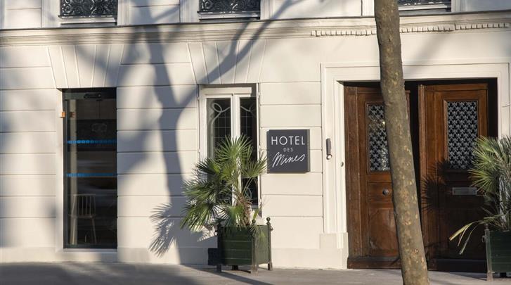 Parijs, Hotel Des Mines, Façade hotel