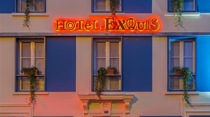 Parijs, Hotel Exquis, Façade hotel