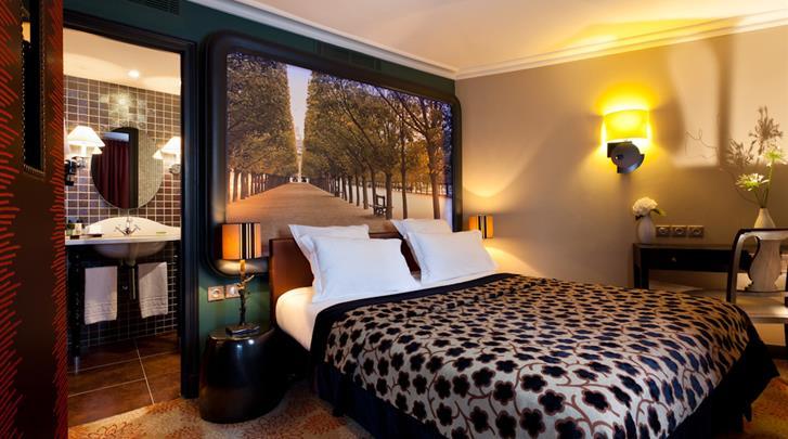 Parijs, Hotel Les Fontaines du Luxembourg, Standaard kamer