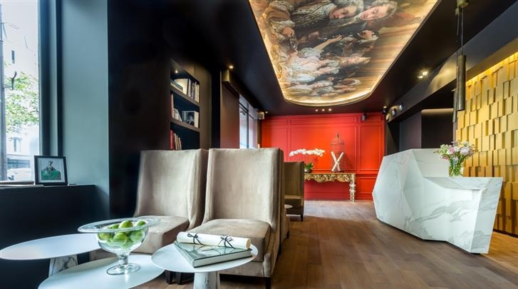 Parijs, Hotel La Comtesse, Lobby