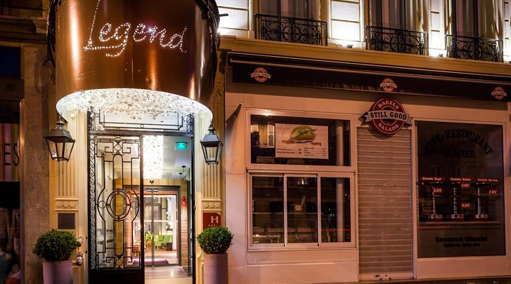 Parijs, Hotel Legend, Façade hotel