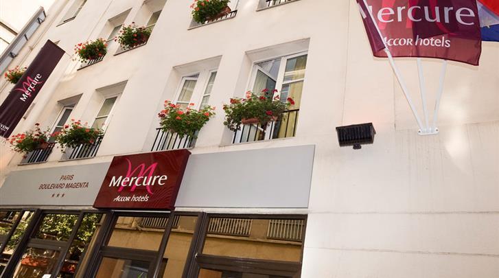 Parijs, Hotel Mercure Gare de l'Est Magenta, Façade hotel