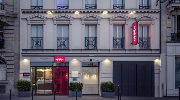 Parijs, Hotel Mercure Gare du Nord Lafayette, Façade hotel