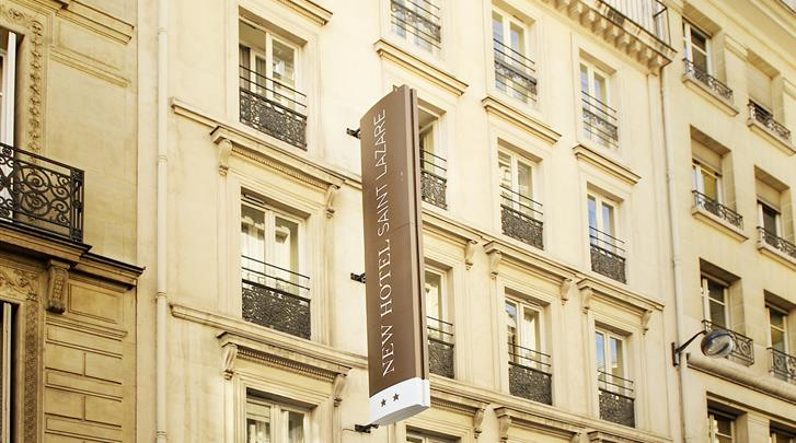 Parijs, Hotel New Hotel Saint Lazare, Façade hotel