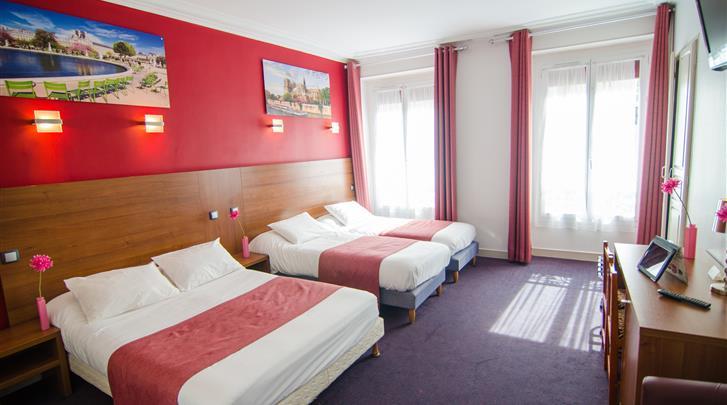 Parijs, Hotel Paris Bruxelles, Familiekamer