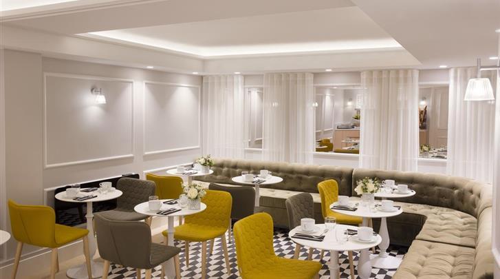 Parijs, Hotel Pastel, Ontbijtruimte