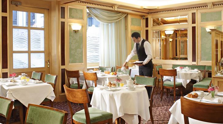Parijs, Hotel Rochester Champs Elysées, Ontbijtrestaurant