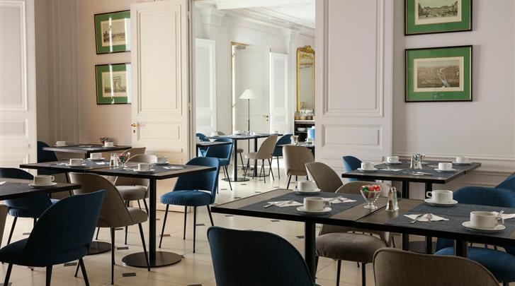 Parijs, Hotel Ronceray Opera, Ontbijtruimte