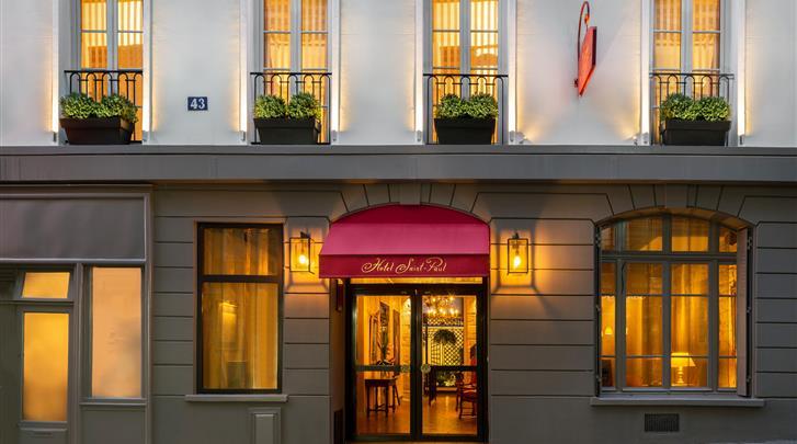 Parijs, Hotel Saint-Paul Rive Gauche, Façade hotel