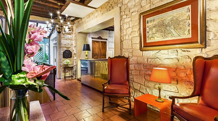 Parijs, Hotel Saint-Paul Rive Gauche, Lobby