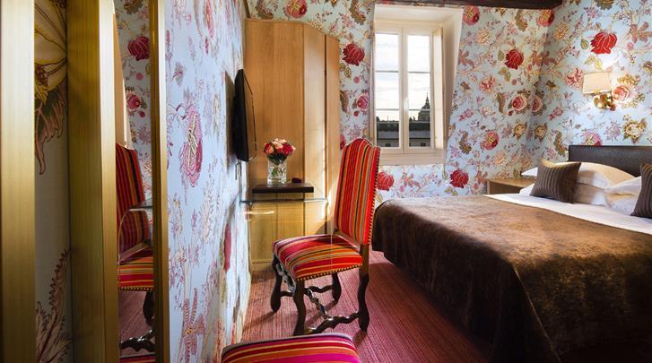 Parijs, Hotel Saint-Paul Rive Gauche, Standaard kamer