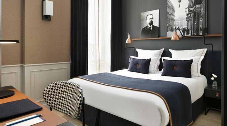 Parijs, Hotel Square Louvois, Standaard kamer