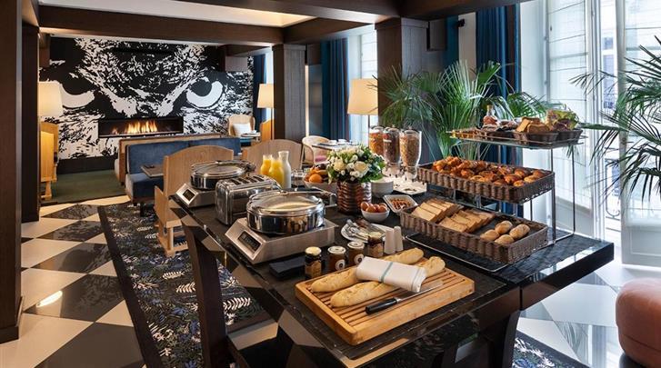 Parijs, Hotel The Chess, Ontbijtbuffet