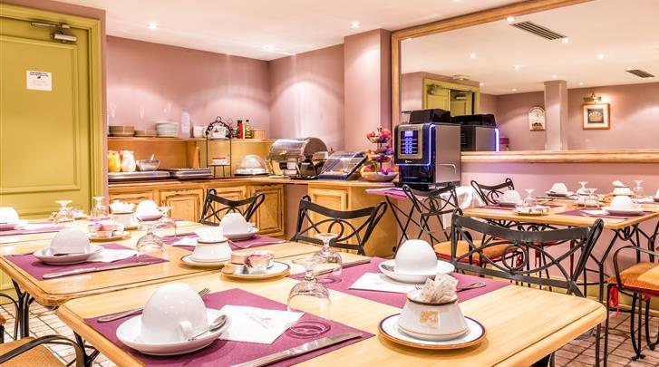 Parijs, Hotel Villa Alessandra, Ontbijtruimte