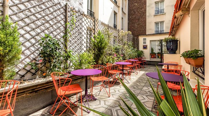 Parijs, Hotel Villa Alessandra, Terras