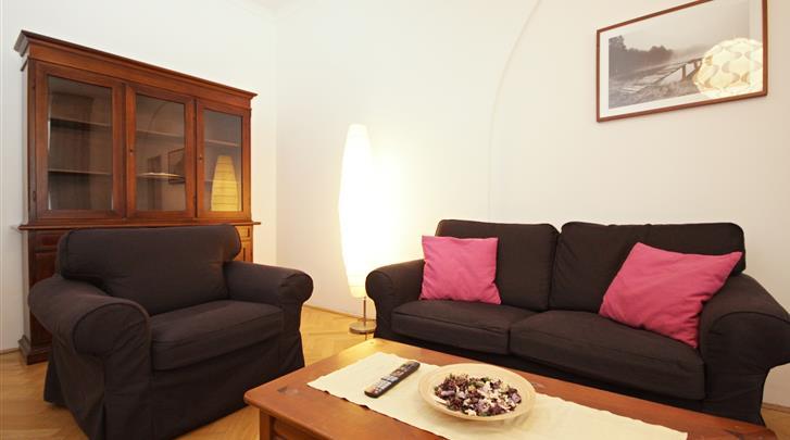 Praag, Appartementen Old Town, Appartement woonkamer