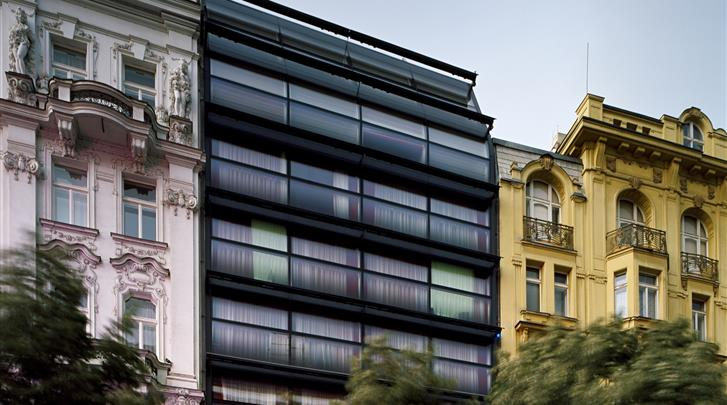 Praag, Designhotel Metropol, Façade hotel
