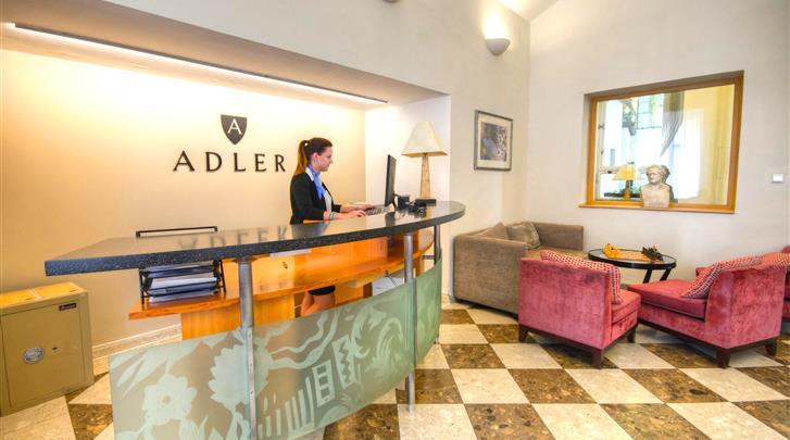 Praag, Hotel Adler Praha, Receptie