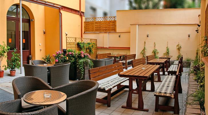 Praag, Hotel Ambiance, Terras