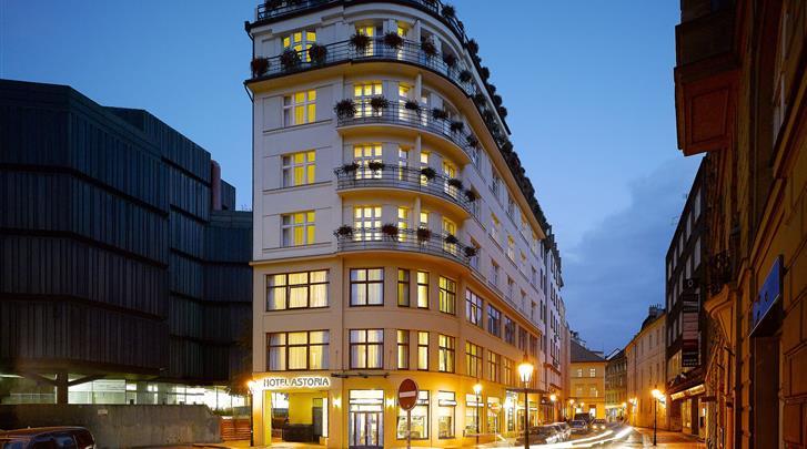 Praag, Hotel Astoria, Façade hotel