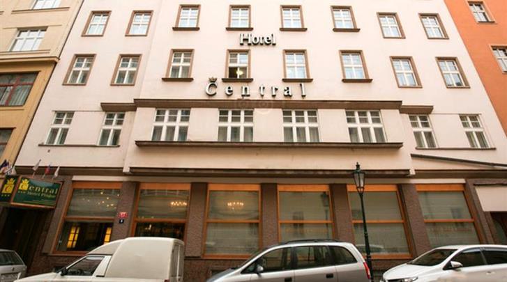 Praag, Hotel Central, Façade hotel