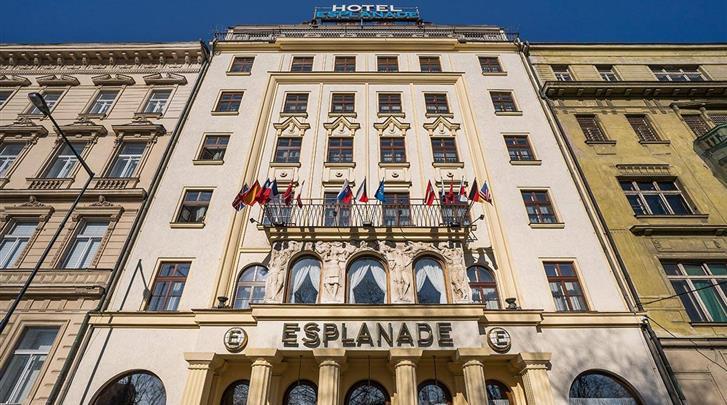 Praag, Hotel Esplanade, Façade hotel