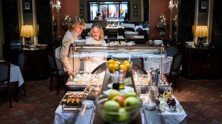 Praag, Hotel Esplanade, Ontbijtbuffet