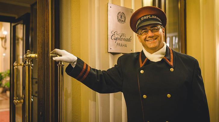 Praag, Hotel Esplanade, Portier