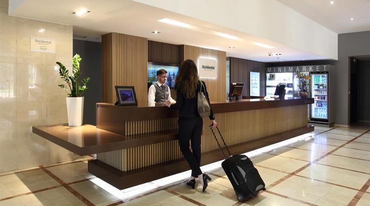 Praag, Hotel Occidental Praha, Receptie