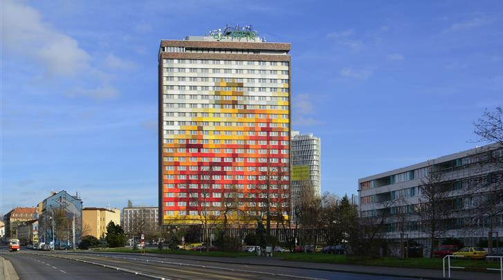 Praag, Hotel Olympik, Façade hotel