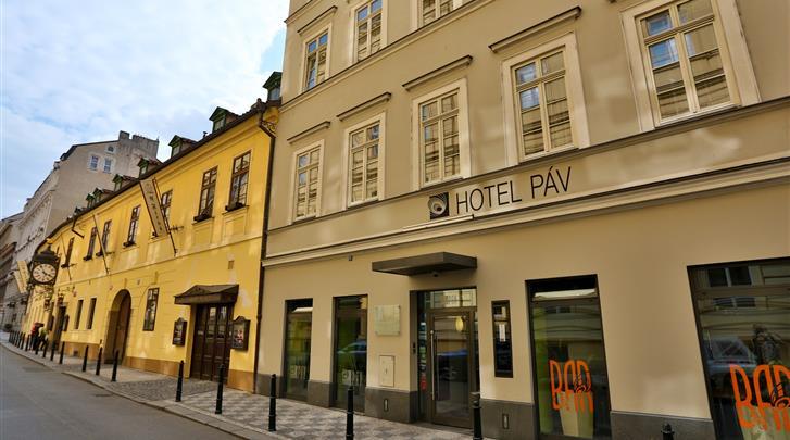 Praag, Hotel Pav, Façade hotel