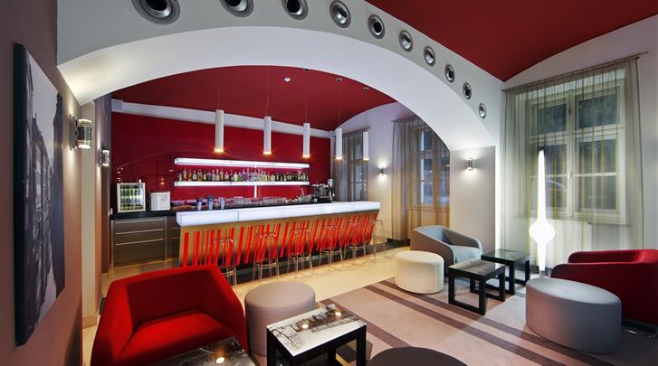Praag, Hotel Red & Blue Design, Hotelbar