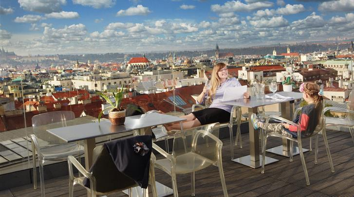 Praag, Hotel Wenceslas Square, Dakterras