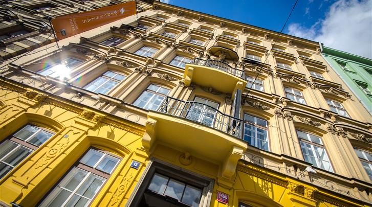 Praag, Hotel Wenceslas Square, Façade hotel