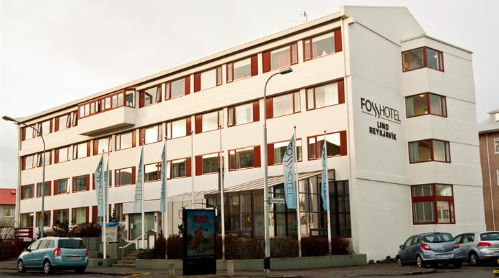 Reykjavik, Fosshótel Lind, Façade hotel