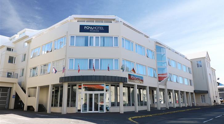 Reykjavik, Hotel Fosshotel Raudará, Façade hotel