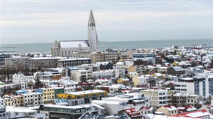 Reykjavik, Hotel Fosshotel Reykjavik, Uitzicht