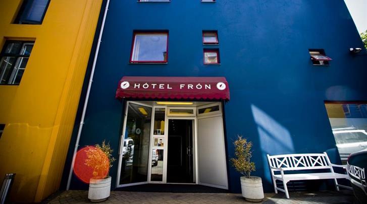 Reykjavik, Hotel Fron, Façade hotel
