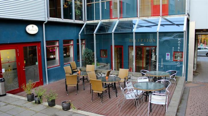 Reykjavik, Hotel Fron, Terras
