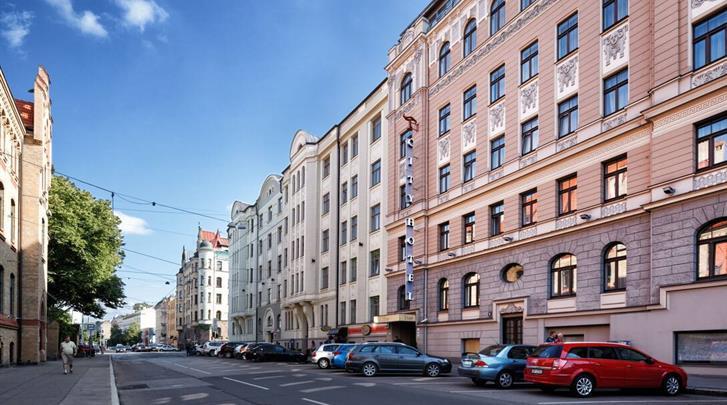 Riga, City Hotel Teater, Façade hotel