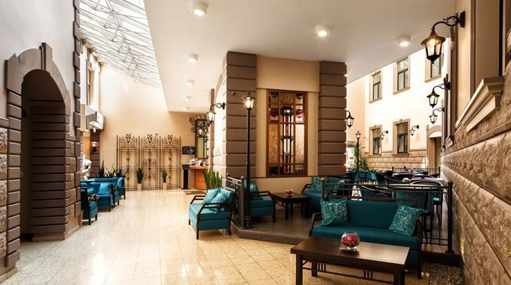 Riga, City Hotel Teater, Lobby