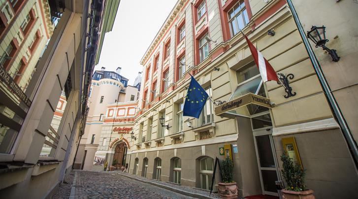 Riga, Hotel Gutenbergs, Façade hotel