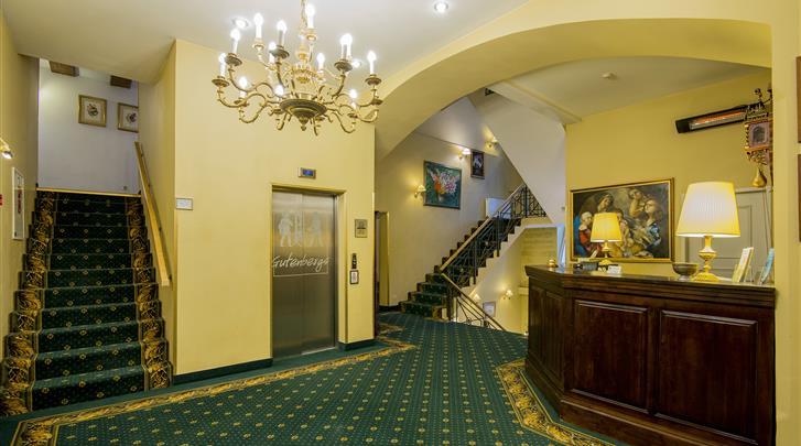 Riga, Hotel Gutenbergs, Receptie